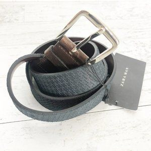 Zara Man Embossed Leather Belt